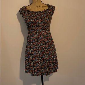 Floral print off the shoulder dress